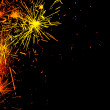 Bright border of firework sparks — Stock Photo #6719397