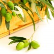 Fresh olives - Foto Stock