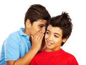 Teen boys gossip — Stock Photo