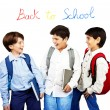 Happy schoolboys — Stock Photo