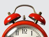 时钟的红绳子 — 图库照片