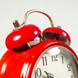 An old alarm clock old red — Stock Photo