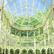 Inside the crystal palace of El Retiro Madrid Spain — Stock Photo