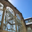 Detail the crystal palace of El Retiro Madrid Spain — Stock Photo