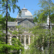Crystal Palace in the Retiro park in Madrid Spain — Stock Photo