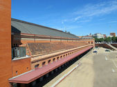 Atocha station spain car park side — Stock Photo