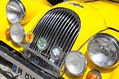 "Madrid 3 Jul ""Party old Classic car"" Morgan 414 1952 — Stock Photo"