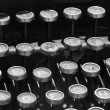 Typewriter 30 years old — Stock Photo
