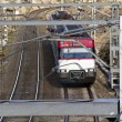 Commuter trains in circulation on the roads — Lizenzfreies Foto