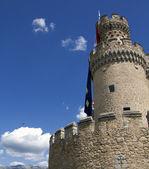 Medieval castle in Manzanares del Real, Spain — Stock Photo
