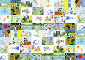 Background of the children's drawings. — Stok fotoğraf