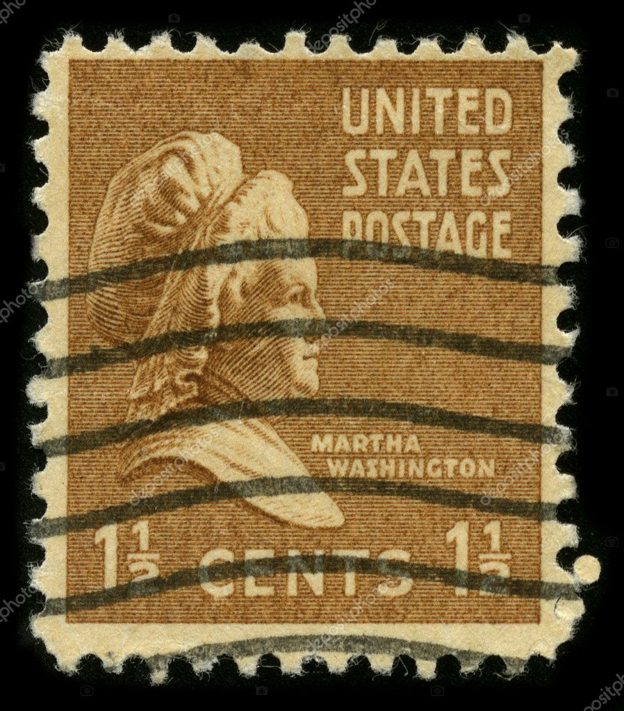 USA - CIRCA 1948: A stamp printed in USA shows portrait Martha Washington circa 1948. — Stock Photo #5912947