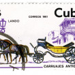 CUBA - CIRCA 1981: A stamp printed in Cuba shows image of the cr — Stock Photo