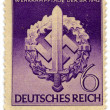 DEUTSCHES REICH - CIRCA 1942: A stamp printed in DEUTSCHES REICH - Stock Photo