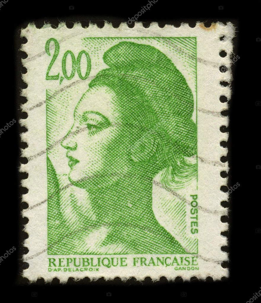 FRANCE - CIRCA 1980: A stamp printed in FRANCE shows image of the dedicated to the Freedom Gandon. — Stock Photo #5954484