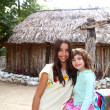 Indian mayan latin girl with her caucasian friend — Stock Photo #5396025