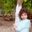 Little tourist girl posing in Mayan Riviera Jungle — Stock Photo #5396488