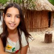 Mexican indian Mayan latin girl in jungle cabin house — Stock Photo #5396551