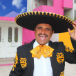 Royalty-Free Stock Photo: Charro mariachi portrait singing in mexican house