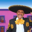 Charro mariachi portrait singing in mexican house — Stock Photo #5396889