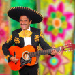 Charro Mariachi playing guitar serape poncho — Stock Photo