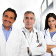 Foto Stock: Doctors multiracial expertise indian caucasian latin