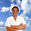 Stock Photo: Mexican man with mayan shirt smiling
