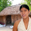 Latin hispanic mayan woman portrait — Stockfoto