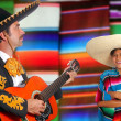 Постер, плакат: Mexican mariachi charro man and poncho Mexico girl