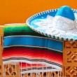 Royalty-Free Stock Photo: Charro mariachi blue mexican hat serape poncho