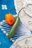 Mexican hot chili peppers in hat habanero serrano — Stock Photo