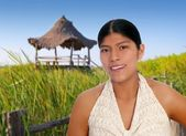 Latin hispanic mayan woman portrait — Stock Photo