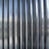 Rostfritt stål silver metall ränder textur rader — Stockfoto