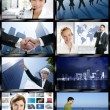 Futuristic tv video news digital screen wall — Stock Photo