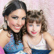 Beautiful portrait of magic queen and princess — Stock Photo #5494866