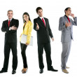 business team gruppo folla piena lunghezza — Foto Stock #5494898