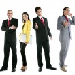 Business team group crowd full length — Stock Photo #5494898