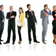 Team of business group crowd full length — Foto de Stock