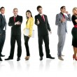 Team of business group crowd full length — Stock Photo