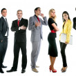 Business team group crowd full length — Stock Photo