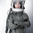 astronaute vaisseau avion casque fashion femme — Photo #5495314
