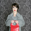 Handbag red retro woman vintage fashion — Stock Photo #5495495