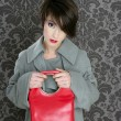 Handbag red retro woman vintage fashion — Stock Photo #5495502
