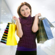 Shopper woman shopping on the city — Stockfoto