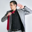 Businessman break finish work take off tie — Stock Photo #5496784