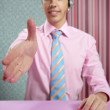Confident young modern businessman handshake - Foto de Stock