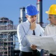 Engineer architect two expertise team industry — Stock Photo