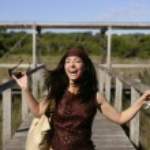 Beautiful woman, tourist running stressed — Stock Photo #5497998