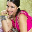 Beautiful indian brunette woman portrait — Stock Photo