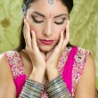 Beautiful indian brunette traditional fashion style — Stock Photo #5498448
